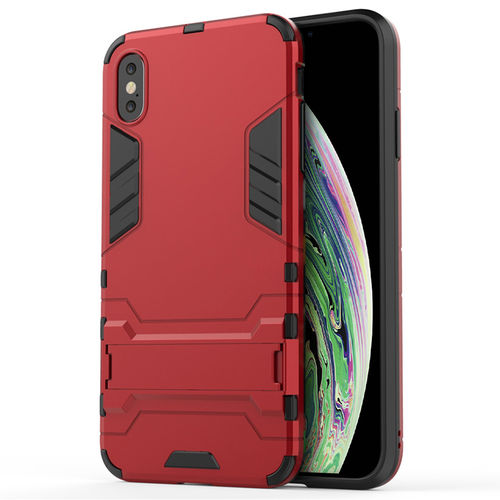 Slim Armour Tough Shockproof Case for Apple iPhone Xs Max - Red